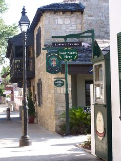 I love to visit St. Augustine.  Going again soon and will probably do a ghost tour.