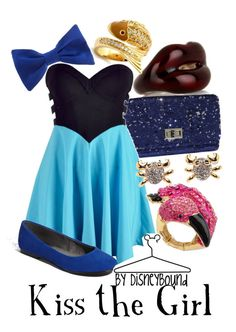 """Kiss the Girl"" by leslieakay ❤ liked on Polyvore featuring Solange Azagury-Partridge, Top Choice, Ally Fashion, BC Footwear, American Apparel, Soho Hearts, Disney, Fantasy Jewelry Box and disney"