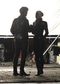 Colin O'Donoghue -Killian Jones - Captain Hook and Co Star Jennifer Morrison - Emma Swan on Once Upon A Time 5x8/9