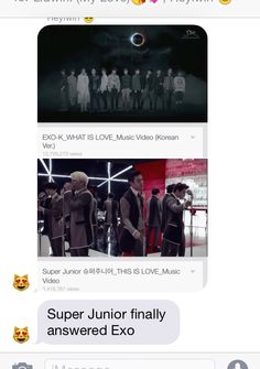 Finally. The question has been answered. #SuperJunior #EXO