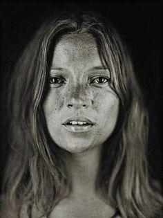 Kate Moss by Chuck Close