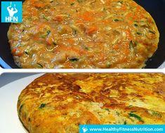 Low-Carb Rezept: Gemüse Tortilla mit Feta