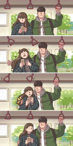 fevereiro, no aniver. Love Cartoon Couple, Cute Couple Comics, Couples Comics, Cute Couple Art, Anime Love Couple, Cute Comics, Cute Anime Couples, Cute Couple Drawings, Cute Drawings