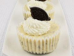 Cookie Monster Cupcakes Martha Stewart | Oreo cookies and cream cheesecakes, Martha Stewart's cookies and cream ...