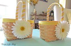 DIY Flower Girl Baskets! #wedding #crafts