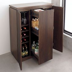 Monaco Bar Cabinet in Bar Cabinets & Bar Carts | Crate and Barrel