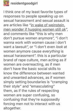 Rape culture by pretending women are overreacting Intersectional Feminism, Thats The Way, The More You Know, Patriarchy, Faith In Humanity, Oppression, Social Justice, Equality, Thoughts
