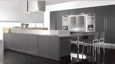 Luxury Kitchen Design Solution Tecnocucina With Sweet Inspiration Picture listed in: contemporary kitchen design, Modern Grey Kitchen, Stylish Kitchen, Grey Kitchens, Modern Kitchen Design, Kitchen Designs, Kitchen Ideas, Modern Kitchens, Modern Design, Modern Kitchen Cabinets