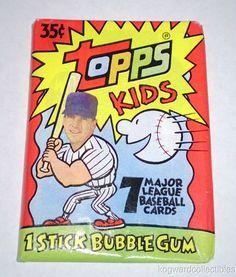 Unopened Wax Pack 1992 Topps Kids MLB Baseball Trading Cards