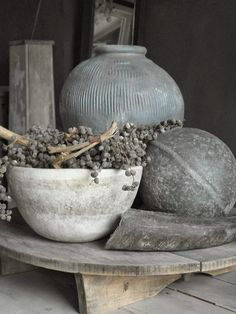 Shades of grey Wabi Sabi, Natural Living, Vibeke Design, Diy Upcycling, 50 Shades Of Grey, World Of Color, Decoration Table, Home And Living, Simple Living