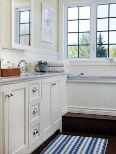 Clean & Quaint Country Bathroom   House & Home