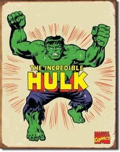 The Incredible Hulk Retro Tin Sign