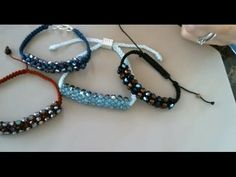 How to Make a Shamballa Bracelet with Faceted Beads and Seed Beads - YouTube