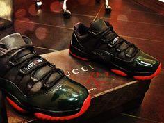 """Air Jordan 11 Low """"Gucci"""" Inspired Custom"""