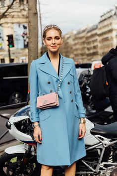 Blue: Pop of color for winter.   Paris Sera Toujours Paris