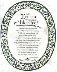 Irish Wedding Blessing, Irish Wedding Traditions, Wedding Prayer, Our Wedding, Wedding Ideas, Wedding Inspiration, Irish Wedding Toast, Catholic Traditions, Wedding Quotes