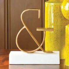 gold ampersand objet sculpture...global views domino.com