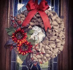 Mary, Mary, Quite Contemporary: Fall Burlap Wreath Tutorial: Fall is at the Door!