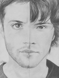Drawing sad sketches guys 23 ideas for 2019 You are in the right place about anime dessin t Supernatural Fans, Supernatural Drawings, Castiel, Sad Sketches, Drawing Sketches, Art Drawings, Drawing Ideas, Realistic Sketch, Fanart