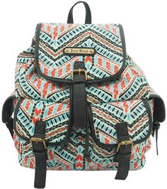 LYDC Designer Anna Smith Aztec Artec Backpack - Blue