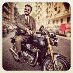FABIO ATTANASIO MOTORBIKE STYLE @bcnpreppy