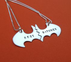 Best Bitches Batman necklaces Personalized by VisionQuest (etsy)