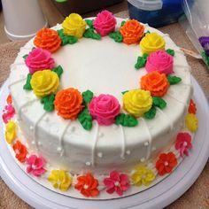 Final cake for Wilton cake course #1