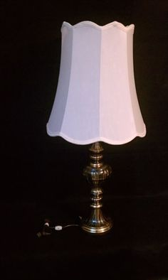 Beautiful MidCentury Brass Torchiere Lamp with by CandyCollins. $65.00, via Etsy.