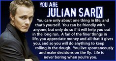 Which Alias Character are you?I got Julian Sark.