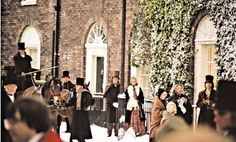 Taken on the set of  A Christmas Carol, starring George C. Scott.  1984.