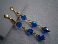 Ohrclips blau von kunstpause auf DaWanda.com