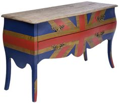 Dresser Romantico Union Jack Colore by #KAREDesign