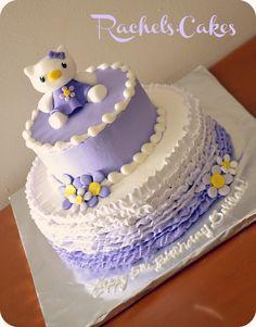 Hello Kitty Cake - Purple Ruffles