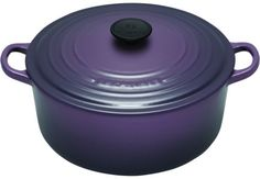 Le Cruset Cassis collection is a must in my kitchen. I like to mix and match with the Flame and Kiwi.