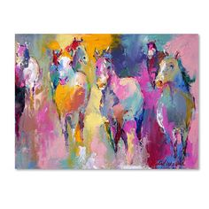 Richard Wallich 'Wild' Canvas Art | Overstock™ Shopping - Top Rated Trademark Fine Art Canvas
