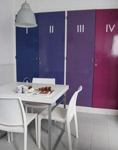 Buena idea para puertas de la cocina.