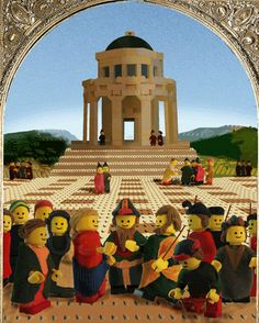 The Marriage of the Virgin. The Lego interpretation of Raphael's famous painting