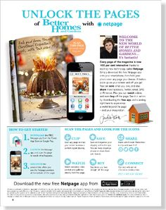 Every page interactive and shareable with Netpage - clipped from page 6 of Better Homes and Gardens, Dec 2013 issue by the Netpage app.