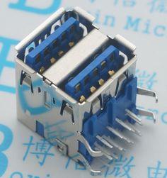 Оптовая продажа новые двойной USB 3.0 тип сокета двойной женский 90 градусов двумя портами USB 100 шт./лот(China (Mainland))