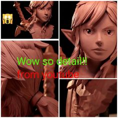 Wow so detail I found on YouTube. Link's sculpture