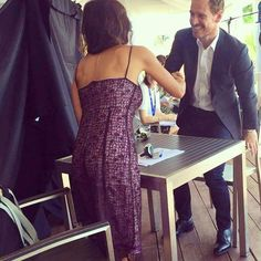 Michael Fassbender behind the scenes pic from the Venice Film Festival 2016