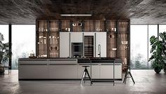 Luxury Kitchen Effeti kitchen 2018 on Behance - Kitchen Pantry Cabinet Ikea, Corner Kitchen Pantry, Kitchen Utensils Store, Custom Kitchen Cabinets, Kitchen Cabinet Design, Pantry Cabinets, Kitchen Dinning, Home Decor Kitchen, Kitchen Furniture