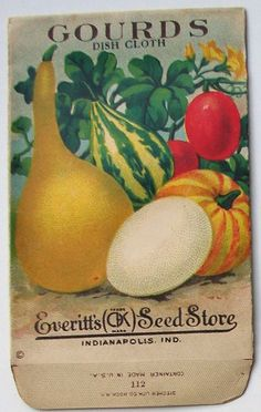 EVERITT'S SEED STORE, Gourds 112, Vintage Seed Packet