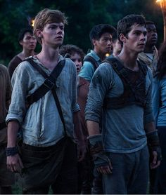 Le Labyrinthe : Photo Dylan O'Brien, Thomas Brodie-Sangster Maze Runner Thomas, Newt Maze Runner, The Maze Runner Film, Maze Runner Trilogy, Maze Runner Series, Thomas Brodie Sangster, Teen Wolf, James Dashner, The Scorch Trials