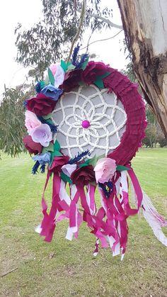 Dreamcatcher piñata I made for a boho/bohemian themed birthday party