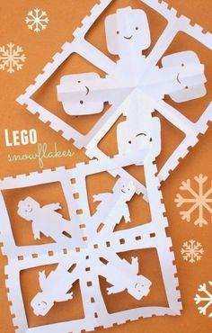 15 Alternative Paper Snowflakes to Make this Winter: Lego paper snowflake