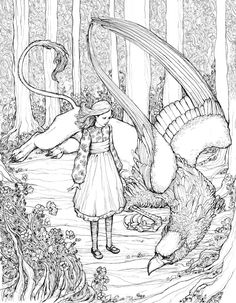 Alice and gryphon by bluefooted on DeviantArt