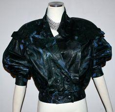 Vintage LANVIN Paris Black Leather Splatter Painted by StatedStyle, $225.00