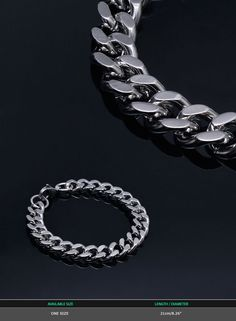Accessories :: Swag Silver Metal Chain Cuff-Bracelet 268 - Mens Fashion Clothing For An Attractive Guy Look