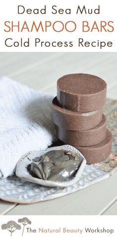Natural Beauty Remedies Dead Sea Mud Shampoo Bars - A Cold Process Soap Recipe Diy Shampoo, Homemade Shampoo, Solid Shampoo, Shampoo Bar, Lush Shampoo, Homemade Conditioner, Organic Shampoo, Homemade Facials, Natural Shampoo